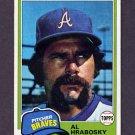 1981 Topps Baseball #636 Al Hrabosky - Atlanta Braves VgEx