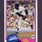 1981 Topps Baseball #627 Luis Tiant - New York Yankees NM-M