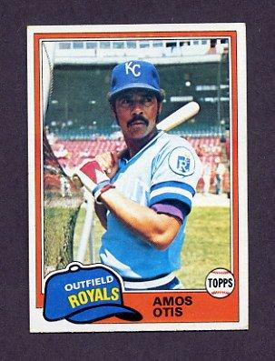 1981 Topps Baseball #585 Amos Otis - Kansas City Royals