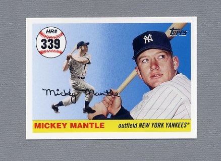 2006 Topps Baseball Mantle Home Run History #MHR339 Mickey Mantle - New York Yankees