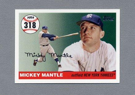 2006 Topps Baseball Mantle Home Run History #MHR318 Mickey Mantle - New York Yankees