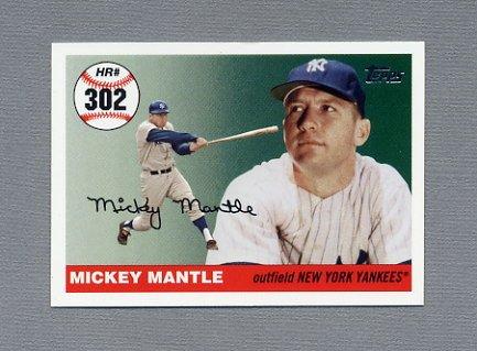 2006 Topps Baseball Mantle Home Run History #MHR302 Mickey Mantle - New York Yankees