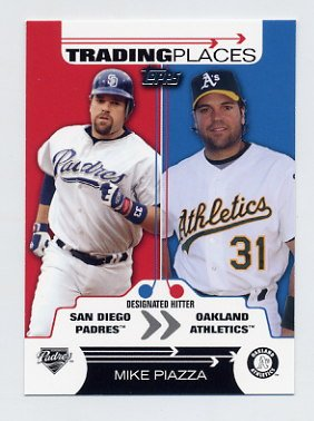 2007 Topps Baseball Trading Places #TP03 Mike Piazza - Oakland A's