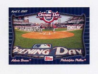 2007 Topps Baseball Opening Day Team vs. Team #OD2 Atlanta Braves / Philadelphia Phillies