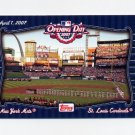 2007 Topps Baseball Opening Day Team vs. Team #OD1 New York Mets / St. Louis Cardinals