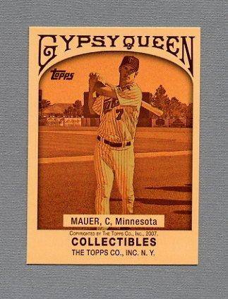2007 Topps Baseball Wal-Mart #WM30 Joe Mauer - Minnesota Twins