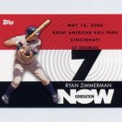 2007 Topps Baseball Generation Now #GN225 Ryan Zimmerman - Washington Nationals