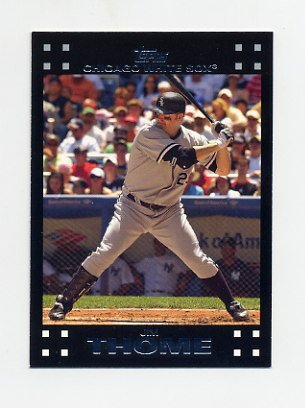 2007 Topps Baseball #481B Jim Thome - Chicago White Sox (No Sig)