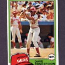 1981 Topps Baseball #375 Dave Concepcion - Cincinnati Reds