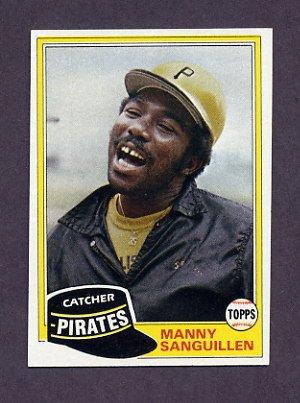 1981 Topps Baseball #226 Manny Sanguillen - Pittsburgh Pirates