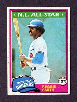 1981 Topps Baseball #075 Reggie Smith - Los Angeles Dodgers