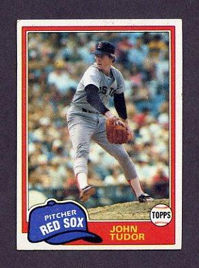 1981 Topps Baseball #014 John Tudor RC - Boston Red Sox