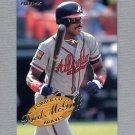 1995 Fleer Baseball Lumber Company #07 Fred McGriff - Atlanta Braves