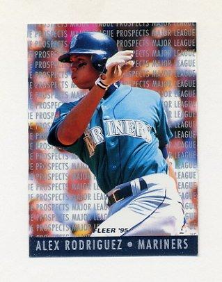 1995 Fleer Baseball Major League Prospects #10 Alex Rodriguez RC - Seattle Mariners
