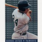 1995 Fleer Baseball Major League Prospects #07 Derek Jeter RC - New York Yankees