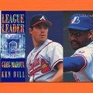 1995 Fleer Baseball League Leaders #09 Greg Maddux - Braves / Ken Hill - Expos