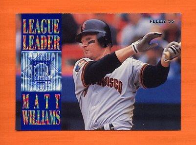 1995 Fleer Baseball League Leaders #07 Matt Williams - San Francisco Giants