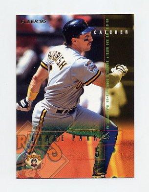 1995 Fleer Baseball #487 Lance Parrish - Pittsburgh Pirates