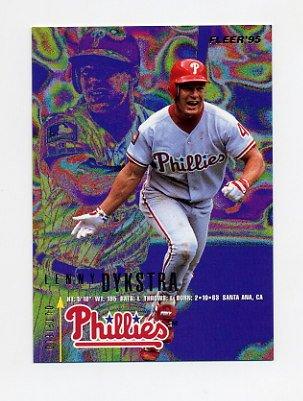 1995 Fleer Baseball #390 Lenny Dykstra - Philadelphia Phillies