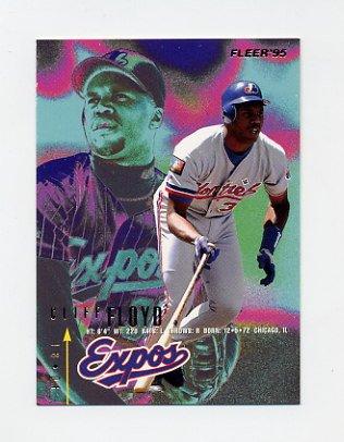 1995 Fleer Baseball #350 Cliff Floyd - Montreal Expos