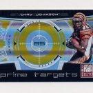 2008 Donruss Elite Football Prime Targets Gold #03 Chad Johnson - Cincinnati Bengals /800