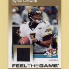 2007 Ultra Football Feel The Game Jerseys #BL Byron Leftwich - Jaguars Game-Used Jersey