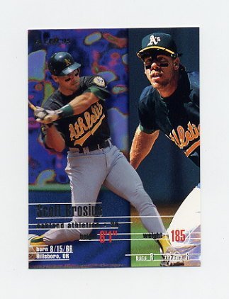 1995 Fleer Baseball #242 Scott Brosius - Oakland A's