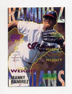1995 Fleer Baseball #145 Manny Ramirez - Cleveland Indians