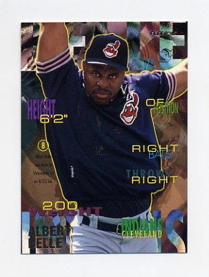 1995 Fleer Baseball #132 Albert Belle - Cleveland Indians
