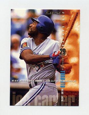 1995 Fleer Baseball #089 Joe Carter - Toronto Blue Jays