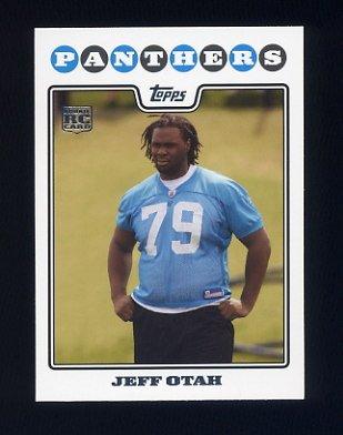 2008 Topps Football #389 Jeff Otah RC - Carolina Panthers