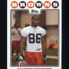 2008 Topps Football #382 Martin Rucker RC - Cleveland Browns