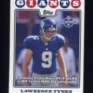 2008 Topps Football #319 Lawrence Tynes PSH - New York Giants