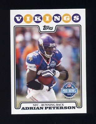 2008 Topps Football #298 Adrian Peterson PB - Minnesota Vikings