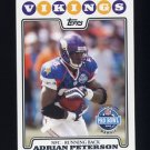 2008 Topps Football #298 Adrian Peterson PB - Minnesota Vikings
