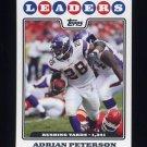 2008 Topps Football #290 Adrian Peterson LL - Minnesota Vikings