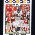 2008 Topps Football #197 Kevin Williams - Minnesota Vikings