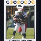 2008 Topps Football #168 Vincent Jackson - San Diego Chargers