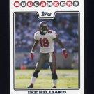 2008 Topps Football #134 Ike Hilliard - Tampa Bay Buccaneers