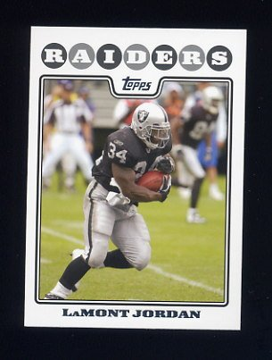 2008 Topps Football #096 LaMont Jordan - Oakland Raiders