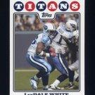 2008 Topps Football #073 LenDale White - Tennessee Titans