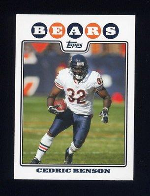 2008 Topps Football #070 Cedric Benson - Chicago Bears