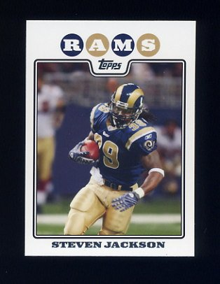 2008 Topps Football #054 Steven Jackson - St. Louis Rams