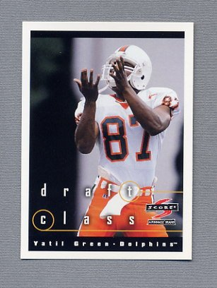 1997 Score Football #307 Yatil Green RC - Miami Dolphins