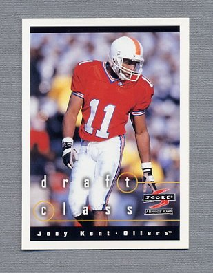 1997 Score Football #295 Joey Kent RC - Tennessee Oilers