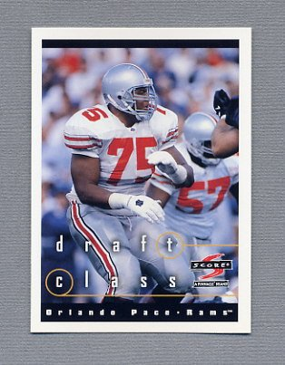 1997 Score Football #273 Orlando Pace RC - St. Louis Rams