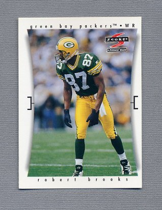 1997 Score Football #256 Robert Brooks - Green Bay Packers