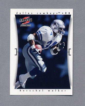 1997 Score Football #255 Herschel Walker - Dallas Cowboys