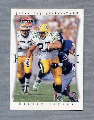 1997 Score Football #173 Dorsey Levens - Green Bay Packers