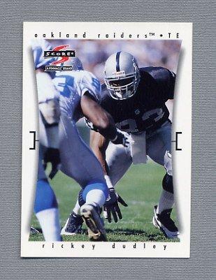 1997 Score Football #163 Rickey Dudley - Oakland Raiders